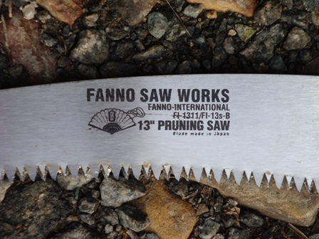 Fanno hand saw close-up